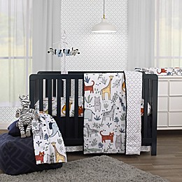 carter's® Safari Party 4-Piece Animal Crib Bedding Set in Grey