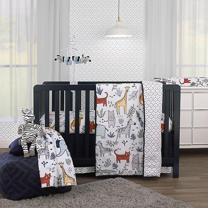 Alternate image 1 for carter's® Safari Party 4-Piece Animal Crib Bedding Set in Grey