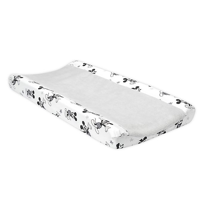 Alternate image 1 for Lambs & Ivy Magical Mickey Mouse Changing Pad Cover in White