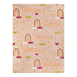 Hearthstone Princess Rainbows 3'11 x 5'7 Area Rug in Peach