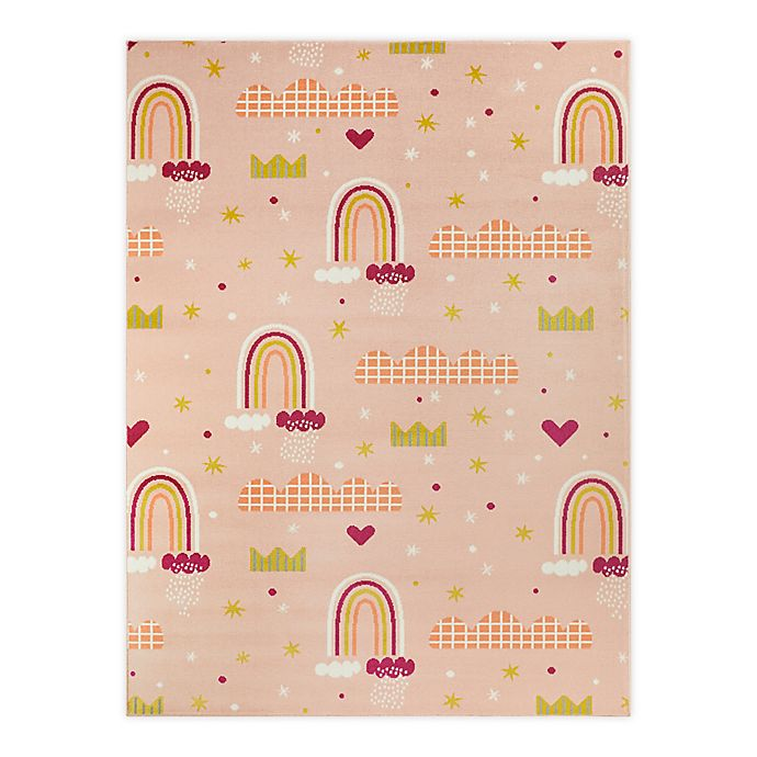 Alternate image 1 for Hearthstone Princess Rainbows 5'3 x 7' Area Rug in Peach