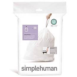 simplehuman® 20-Pack Code U 55-Liter Custom-Fit Liners