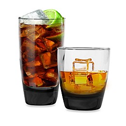 Libbey® Glass Classic 16-Piece Cooler and Double Old Fashioned Glass Set in Smoke