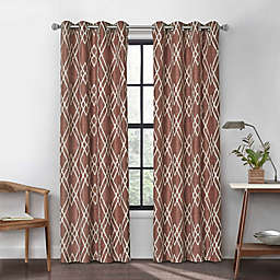 Urban Thread Atwood 63-Inch Grommet Light Filtering Lined Window Curtain Panel in Brick