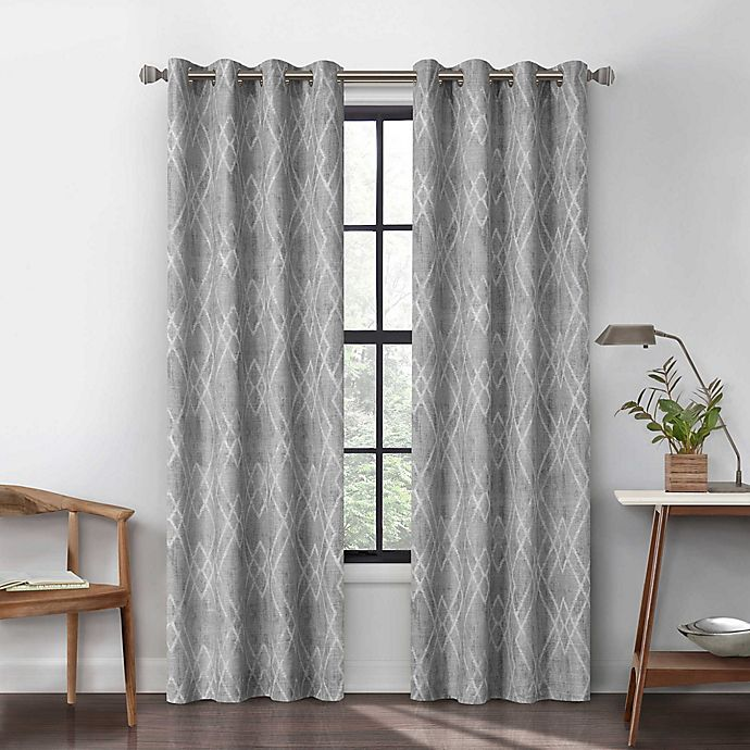 Alternate image 1 for Urban Thread Atwood 84-Inch Grommet Light Filtering Lined Window Curtain Panel in Light Grey