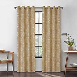 Urban Thread Atwood 84-Inch Grommet Light Filtering Lined Window Curtain Panel in Mustard