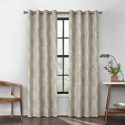 Urban Thread Atwood 95-Inch Grommet Light Filtering Lined Window Curtain Panel in Tan
