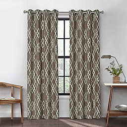 Urban Thread Atwood 108-Inch Grommet Light Filtering Lined Window Curtain Panel in Brown