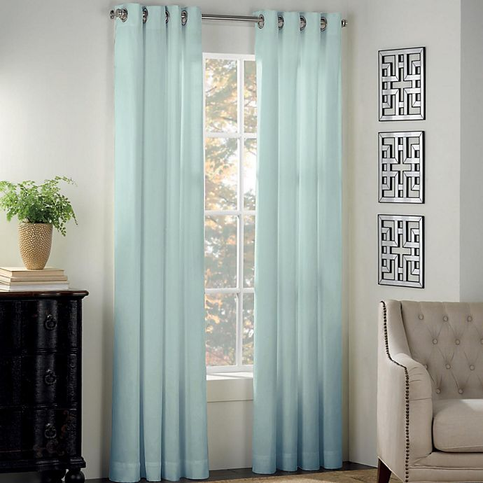 Alternate image 1 for Newport 84-Inch Grommet Window Curtain Panel in Mint