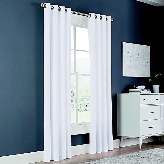 Alternate image 1 for Newport 84-Inch Grommet Window Curtain Panel in White