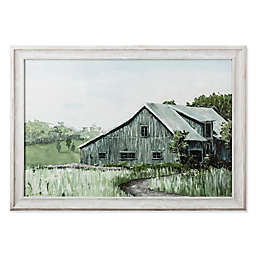 Bee & Willow™ Home Green Barn 34-Inch x 24-Inch Framed Canvas Wall Art