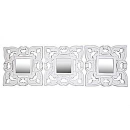 Global Caravan™ Carved Mirrors in White (Set of 3)