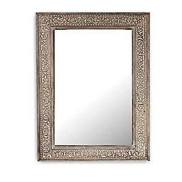 Global Caravan™ Mango 18-Inch x 24-Inch Carved Wooden Wall Mirror in White Wash