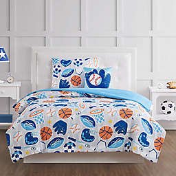 My World All Star Comforter Set in Grey/Blue