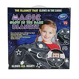 Magic Glow-In-The-Dark Throw Blanket in Grey