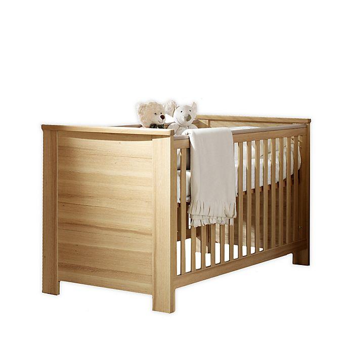 Alternate image 1 for little guy comfort Oakland 3-in-1 Convertible Crib in Oak