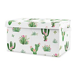 Sweet Jojo Designs Floral Cactus Toy Bin in Pink/Green