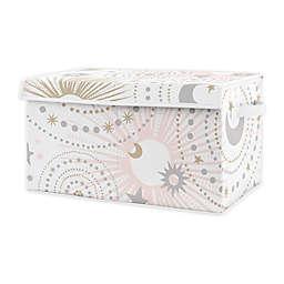 Sweet Jojo Designs Celestial Toy Bin in Pink/Gold
