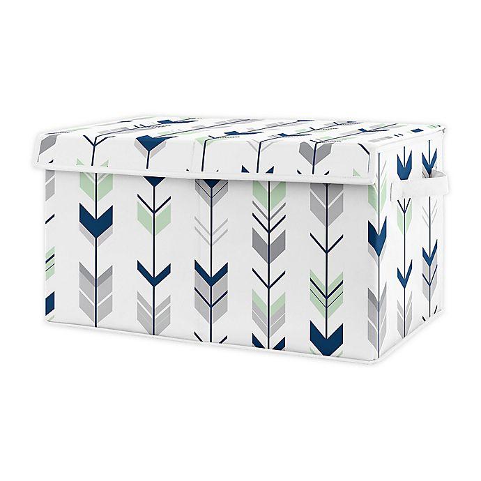 Alternate image 1 for Sweet Jojo Designs Woodland Arrow Toy Bin in Blue/Mint