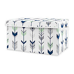 Sweet Jojo Designs Woodland Arrow Toy Bin in Blue/Mint