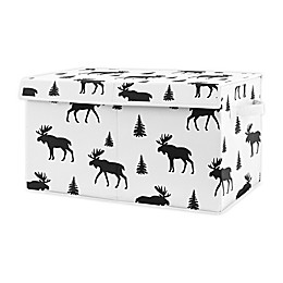 Sweet Jojo Designs Rustic Moose Toy Bin in Black/White