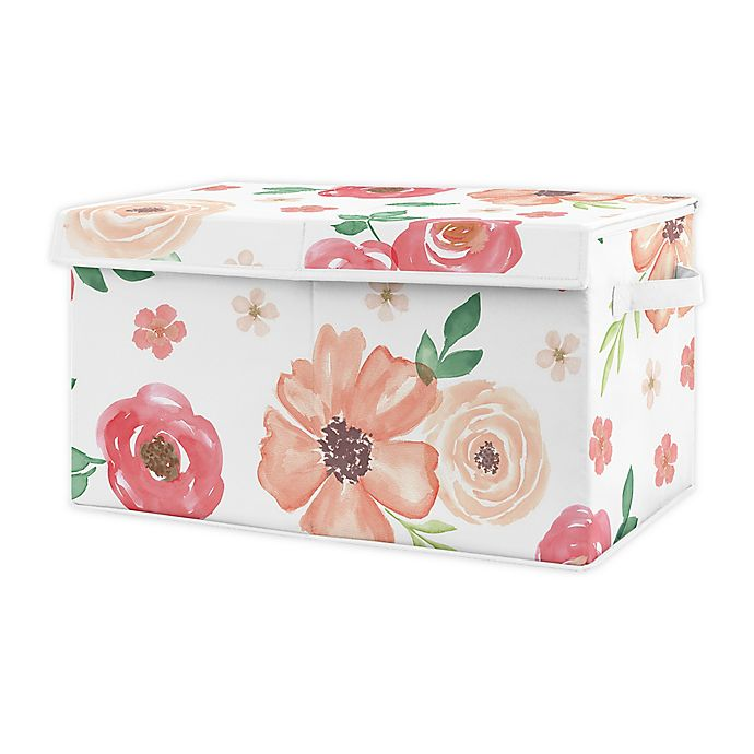 Alternate image 1 for Sweet Jojo Designs Floral Patch Toy Bin