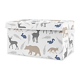 Sweet Jojo Designs Woodland Animals Toy Bin in Grey/White