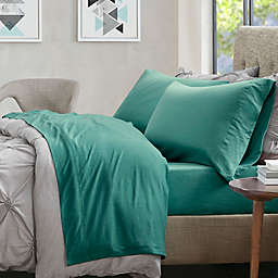 Urban Habitat Heathered Jersey Twin XL Sheet Set in Teal