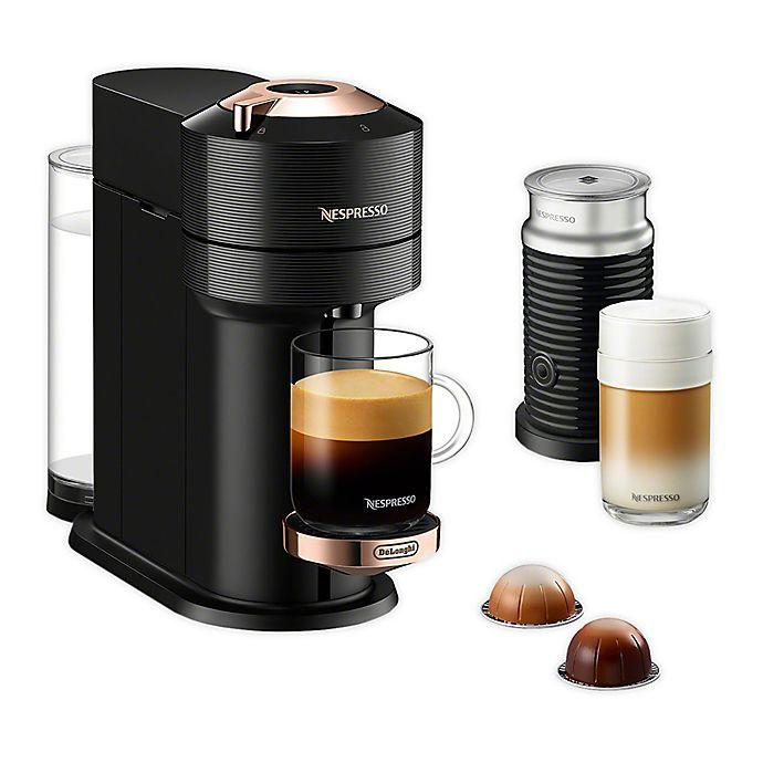 Alternate image 1 for Nespresso® by De'Longhi Vertuo Next Premium Espresso Maker with Aeroccino in Black