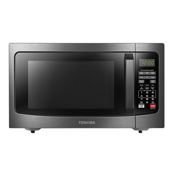 Alternate image 1 for Toshiba® 1.2 cu. ft. Microwave Oven in Black Stainless Steel