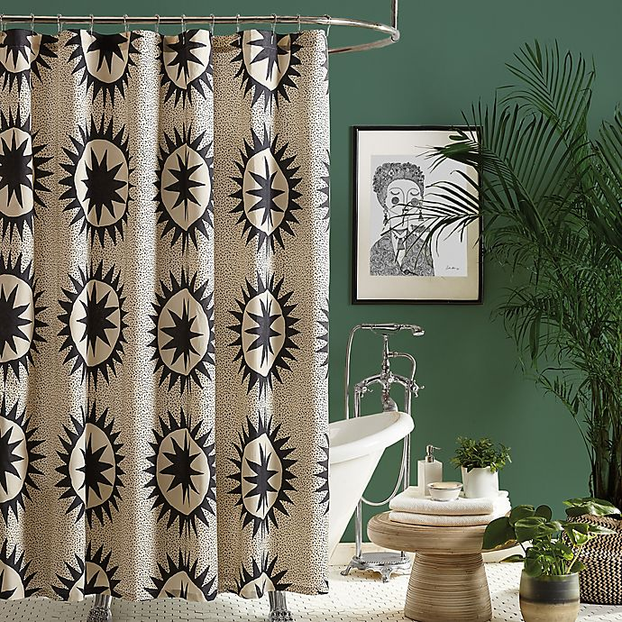 Maker S Collective 72 Inch X, Black And Cream Shower Curtain