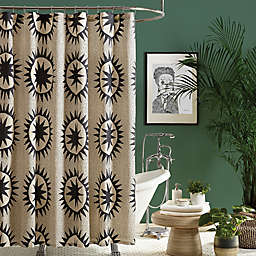 Maker's Collective 72-Inch x 72-Inch Soleil Shower Curtain in Cream/Black