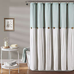 Lush Décor 72-Inch x 72-Inch Linen Button Shower Curtain