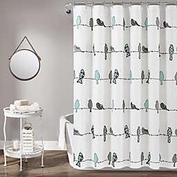 Lush Decor 72-Inch x 72-Inch Rowley Birds Shower Curtain