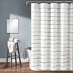 Lush Decor 72-Inch x 72-Inch Ombre Stripe Shower Curtain