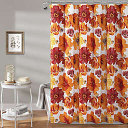 Lush Décor 72-Inch x 72-Inch Leah Shower Curtain in Red