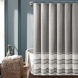 Lush Decor 72-Inch x 72-Inch Nantucket Stripe Tassel Shower Curtain