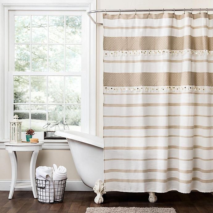 Alternate image 1 for Malaika Stripe Shower Curtain