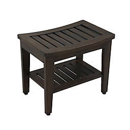 21-Inch Teakwood Shower Bench in Mocha