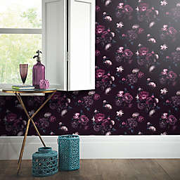 Euphoria Floral Wallpaper in Plum