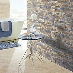 Arthouse Azure Slate Wallpaper in Brown/Grey