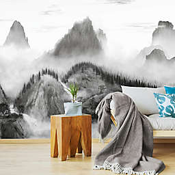 RoomMates® Majestic Mountains Peel and Stick Wallpaper Mural in Black/White