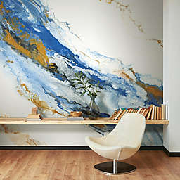RoomMates® Crystal Geode Peel & Stick Wallpaper in Blue/Gold