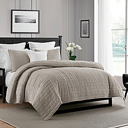 Swift Home Enzyme Washed Ultra Soft Crinkle Coverlet Set