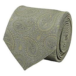 Star Wars™ Yoda Paisley Men's Necktie in Sage Green