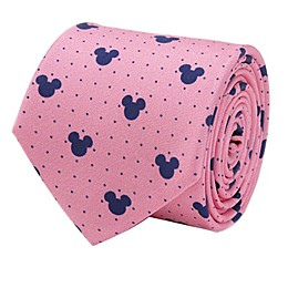 Disney® Mickey Mouse Dot Men's Necktie in Pink