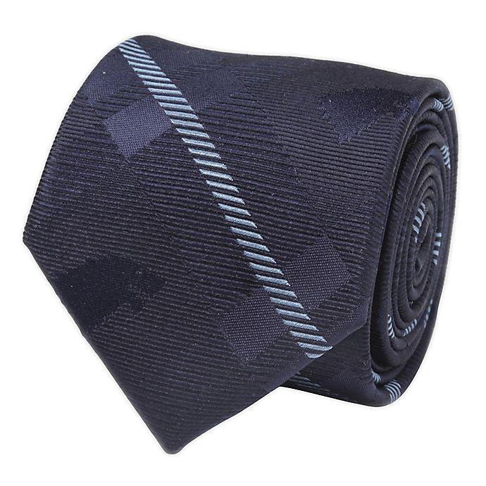 Alternate image 1 for Stark Direwolf Silk Men's Tie in Blue Plaid