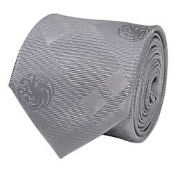 Targaryen Dragon Silk Men's Tie in Grey Plaid