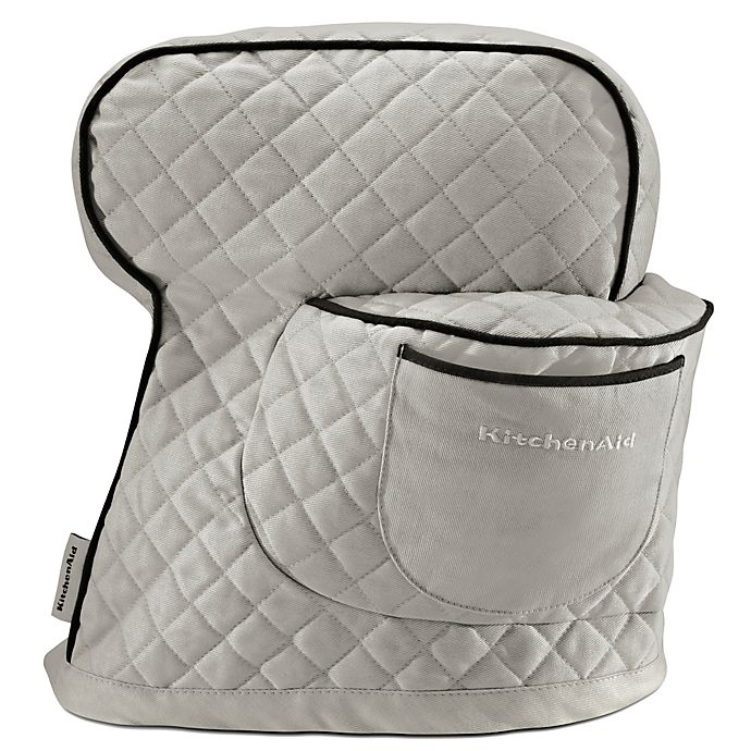 Alternate image 1 for KitchenAid® Fitted Cloth Cover for KitchenAid® Tilt Head Stand Mixers in Silver Frost