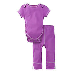 MiracleWear Posheez Size 6-12M 2-Piece Snap'n Grow Bodysuit and Pant Set in Purple